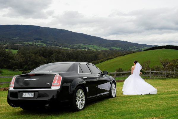 Black Chrysler Sedan Hire Yarra Valley