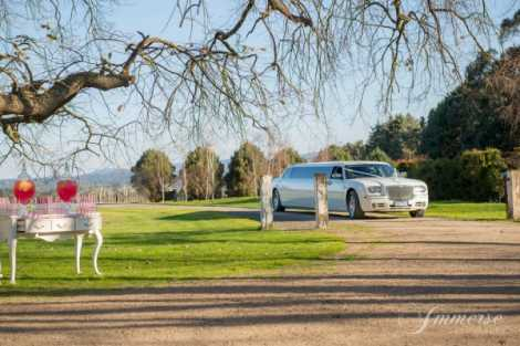 Enrik Limousines - White Chrysler Wedding Transport Melbourne