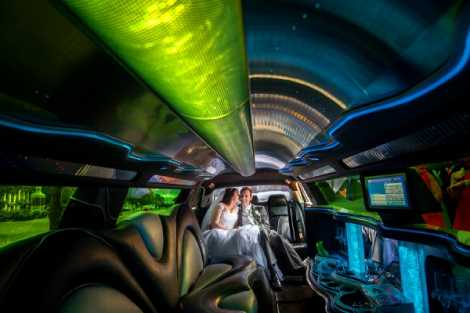Enrik Limousines - White Chrysler Wedding Limousine Hire Melbourne
