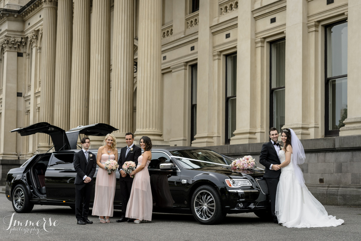 bridal party chrysler limo