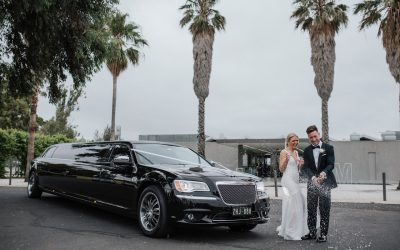 Black Chrysler Limousine Hire – Ellie and Michael