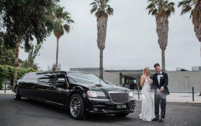 Black Chrysler Limousine Hire – Ellie and Michael